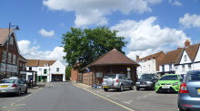 Thatcham, part of the town centre, Berkshire © Jeremy Bolwell